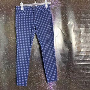 "Banana Republic- ""Sloan"" Dark Blue Plaid Pants 00P"